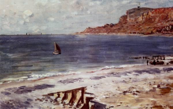 Monet Sailing At Sainte Adresse